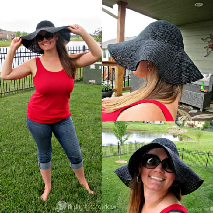 Super Cute BIG Floppy Sun Hat Crochet Pattern