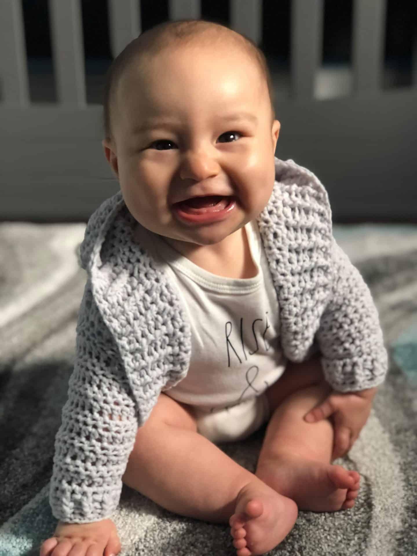 free infant hoodie crochet pattern