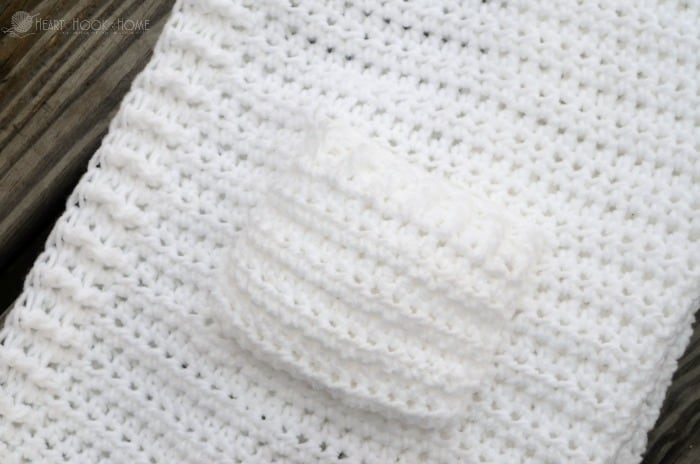 Adding pockets to child size unicorn hoodie crochet pattern