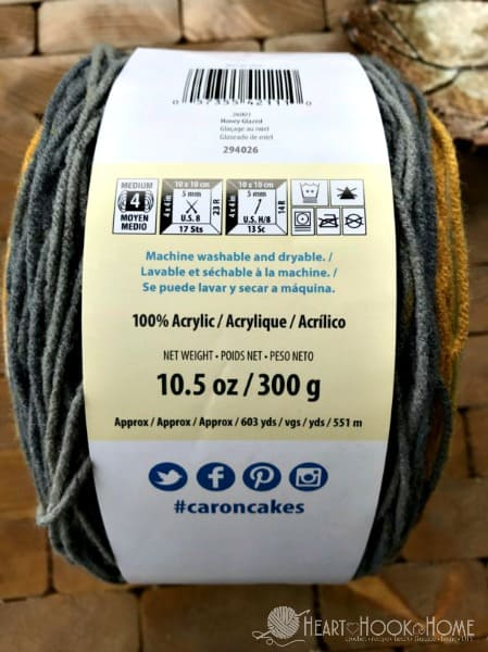 Caron Big Cakes Yardage and hook size