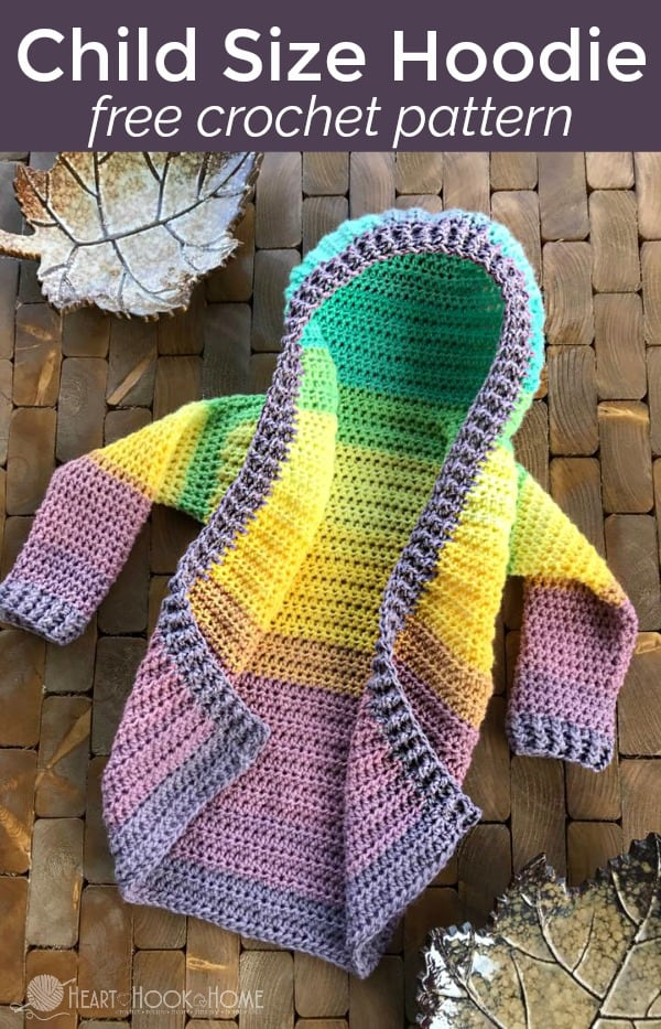 Toddler Hoodie Free Crochet Pattern Size 6060T Fascinating Free Crochet Patterns