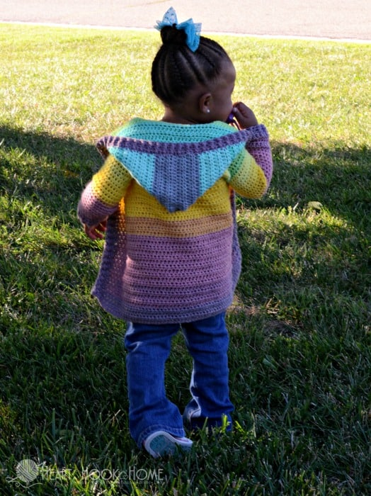 Child size painted canyon cardigan variations