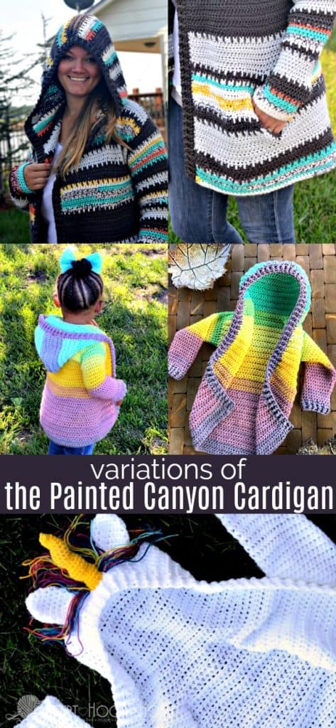 Different Variations of The Painted Canyon Cardigan