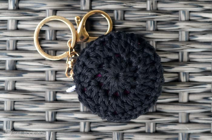 Free Crochet Pattern for Retractable Keychain Holder