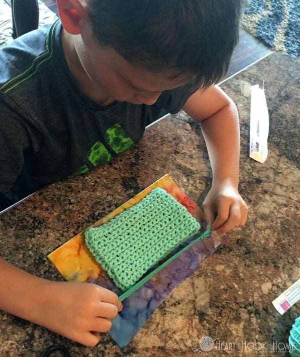 Learning to crochet for children