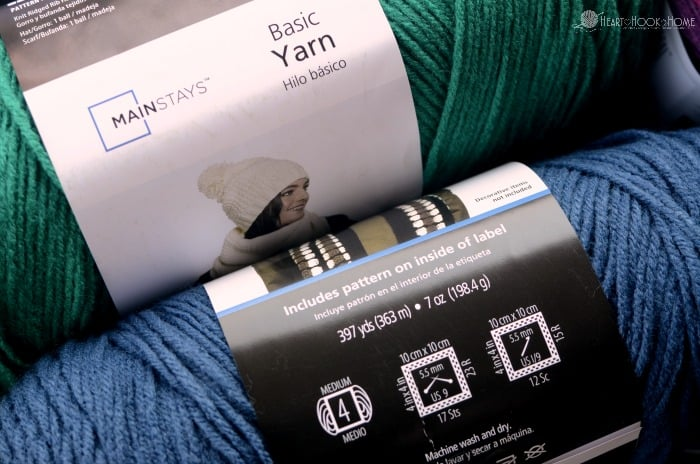 Mainstays Yarn Specifications