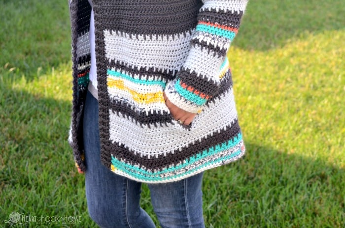 Painted Canyon Cardigan Pockets