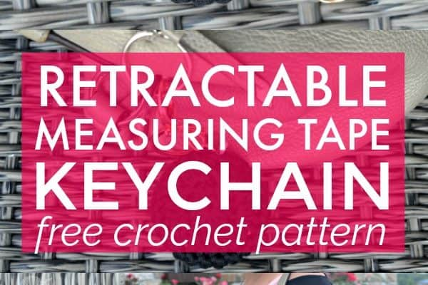Retractable Measuring Tape Keychain Crochet Pattern