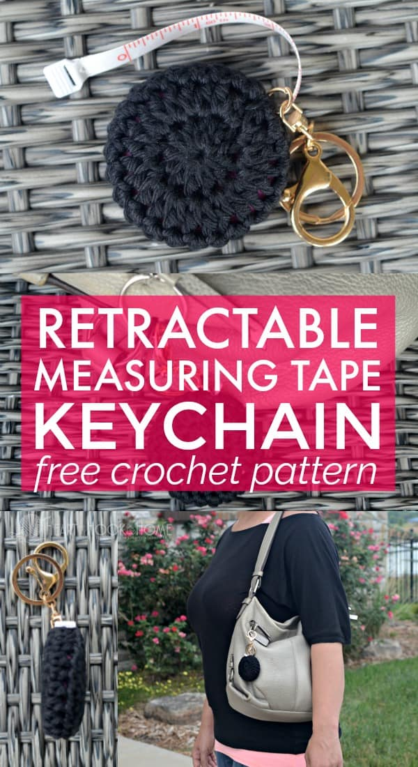 Retractable Measure Tape Keychain Crochet Pattern