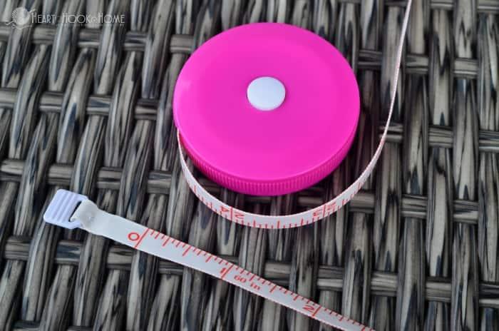 Retractable Measuring Tape Holder Crochet Pattern
