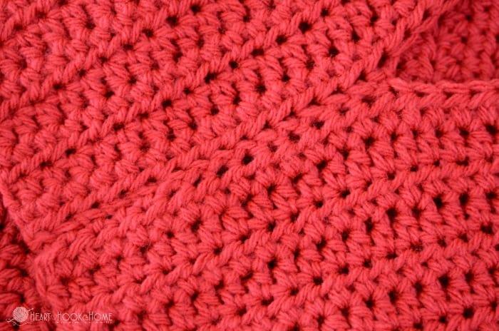 Sewing crochet using the Mattress Stitch