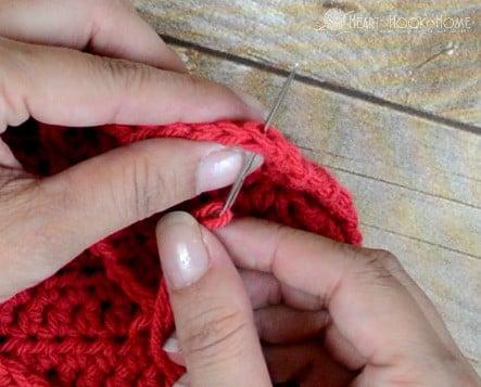 Sewing the Mattress Stitch