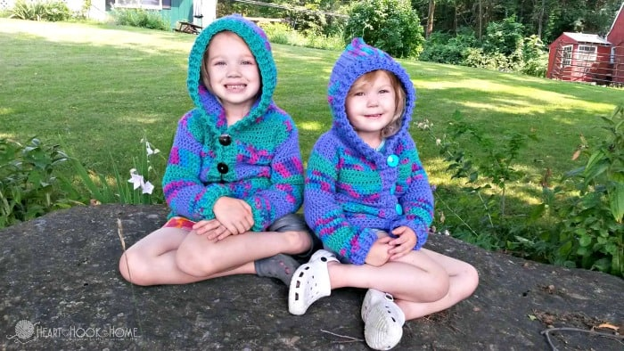 Toddler size hoodie crochet pattern