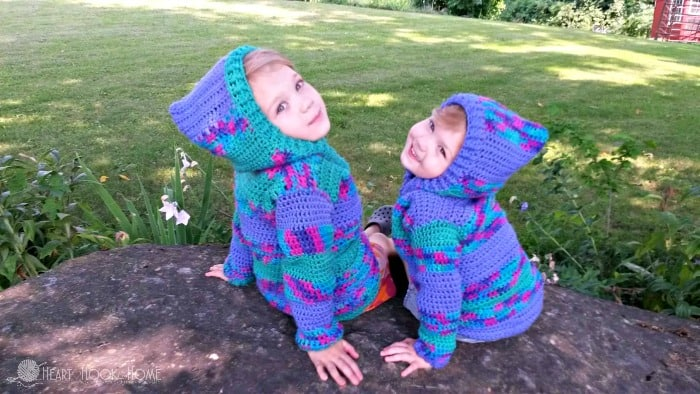Toddler Hoodie Free Crochet Pattern Size 23t