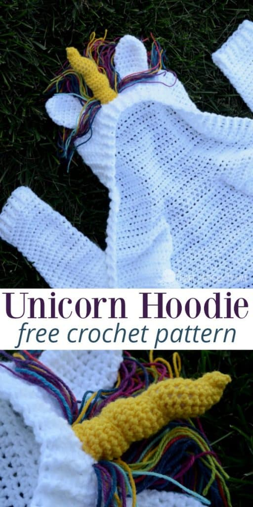 Child Size Unicorn Hoodie Crochet Pattern Sizes 60 60 Simple Unicorn Crochet Pattern