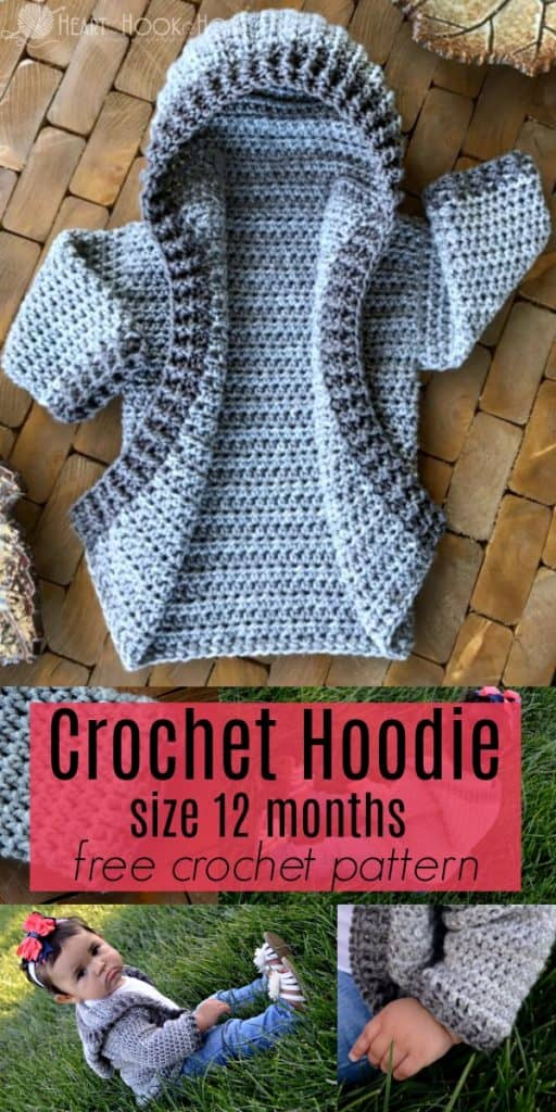 1637c0c93161 12 Month Infant Hoodie Free Crochet Pattern