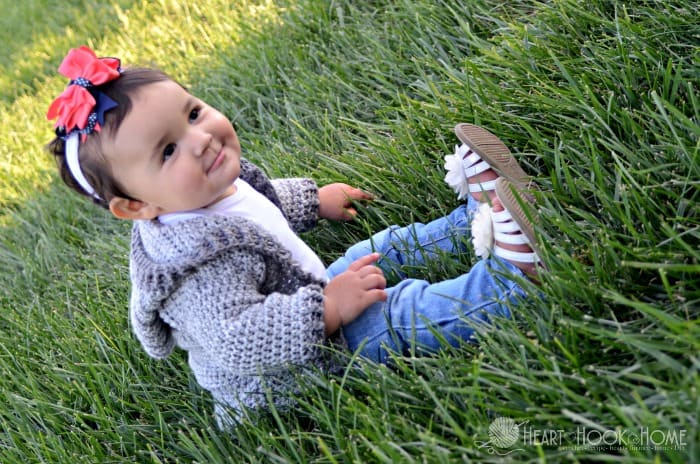 Adorable 12 month infant hoodie crochet pattern
