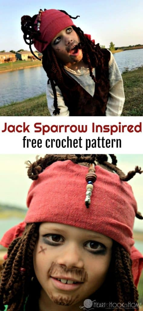 Captain Jack Sparrow Inspired hat crochet pattern by Heart Hook Home