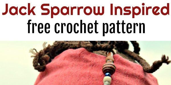 Jack Sparrow Inspired Halloween Beanie Free Crochet Pattern