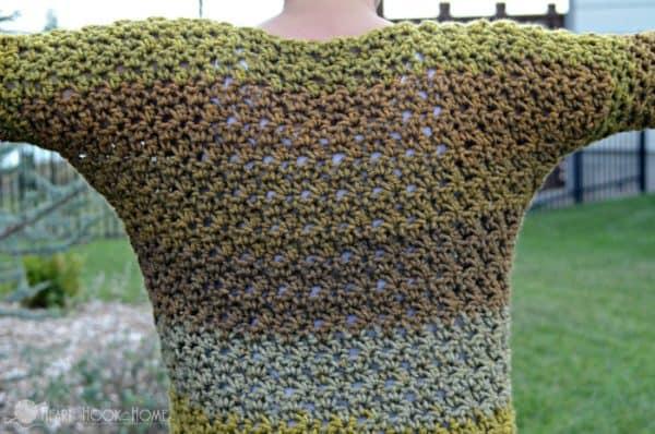 Dolman style crochet top
