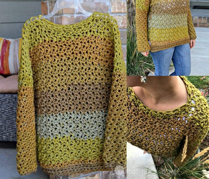 Four Hour Fall Sweater Chunky crochet pattern