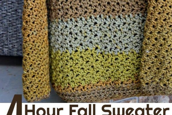 Four-Hour Fall Sweater Free Crochet Pattern
