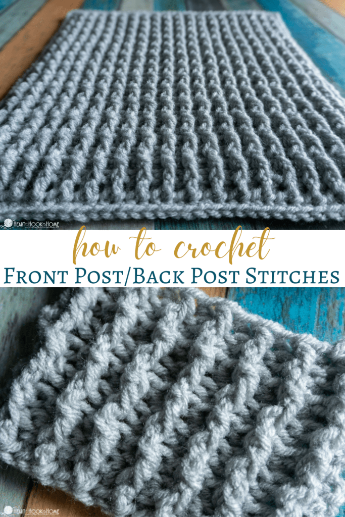 how to crochet front post back post stitches