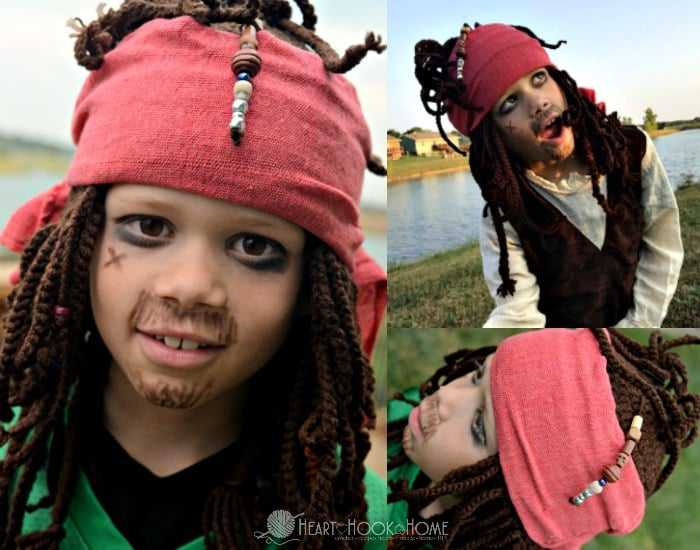 Jack Sparrow Inspired Beanie crochet pattern