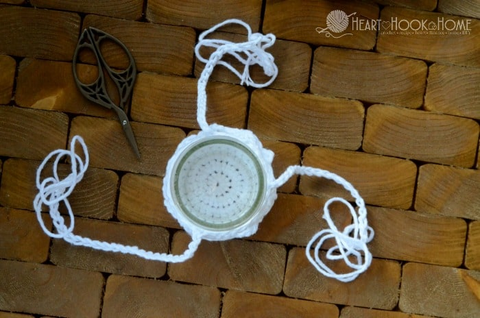 Straps for making a hanging plant hanger free crochet pattern