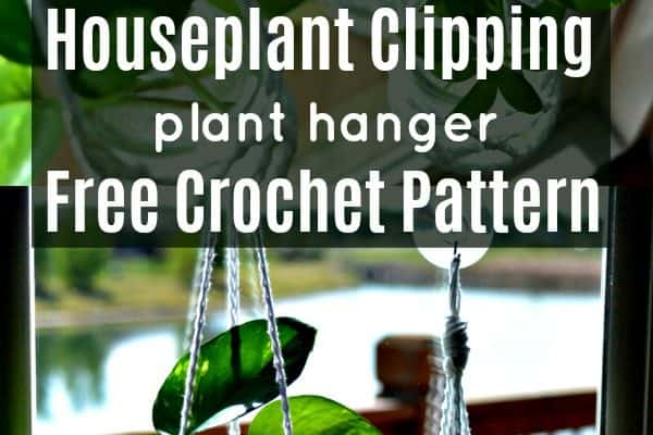 free crochet pattern for houseplant clipping hanger