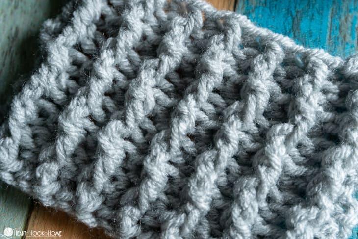front post back post crochet ribbing tutorial