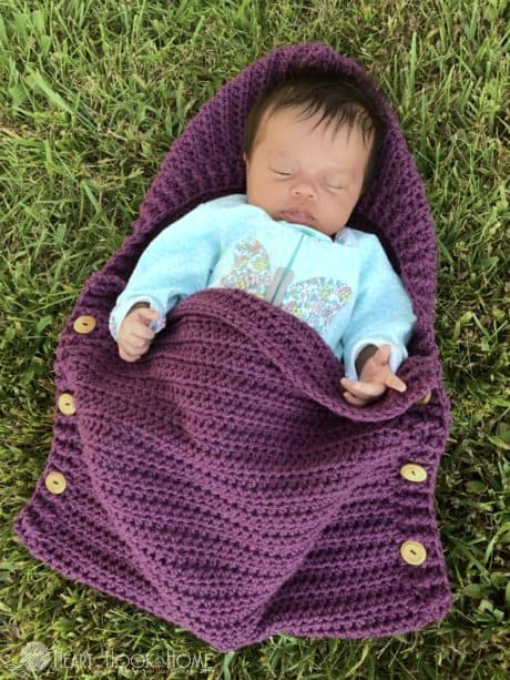 Free crochet pattern for preemie sleep sack