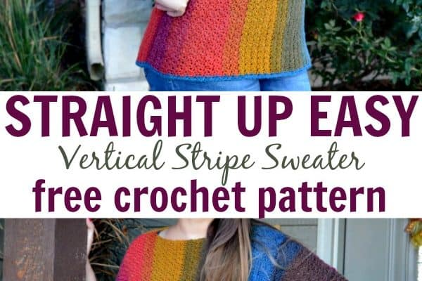 Straight up EASY Vertical Stripes crochet pattern by Heart Hook Home