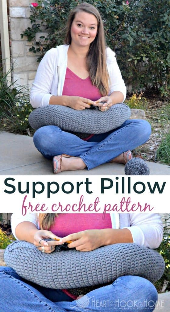 Support pillow for crochet fatigue free crochet pattern