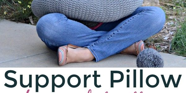 Pillow Support Crochet Pattern & Stretches for Crochet Fatigue