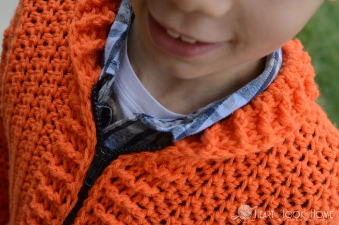 6/8 size of the cozy classroom cardigan