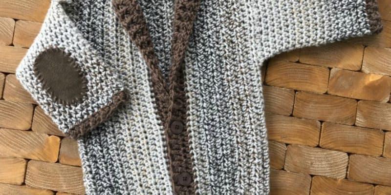 Adorable Infant cardigan crochet pattern for 12 months