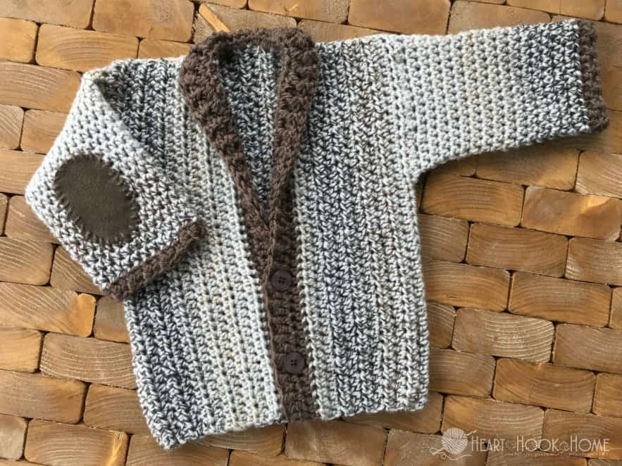 Adorable Infant cardigan crochet pattern for 12 months