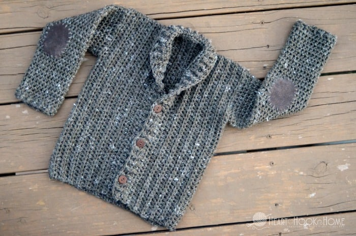 Adorable toddler cardigan free crochet pattern