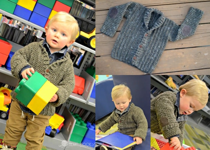 Cozy Classroom Cardigan 2/3t size pattern