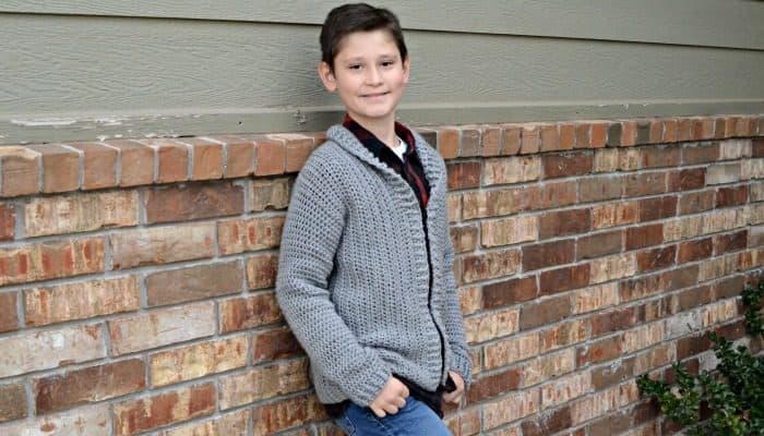 Cardigan crochet pattern for boys