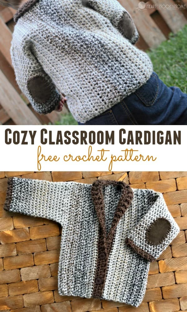 Cozy 12 Month Cardigan Free Crochet Pattern