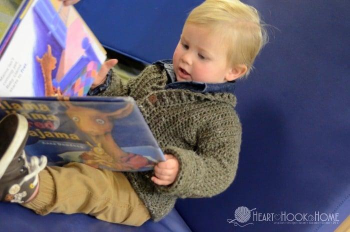 Cozy Classroom Cardigan toddler size