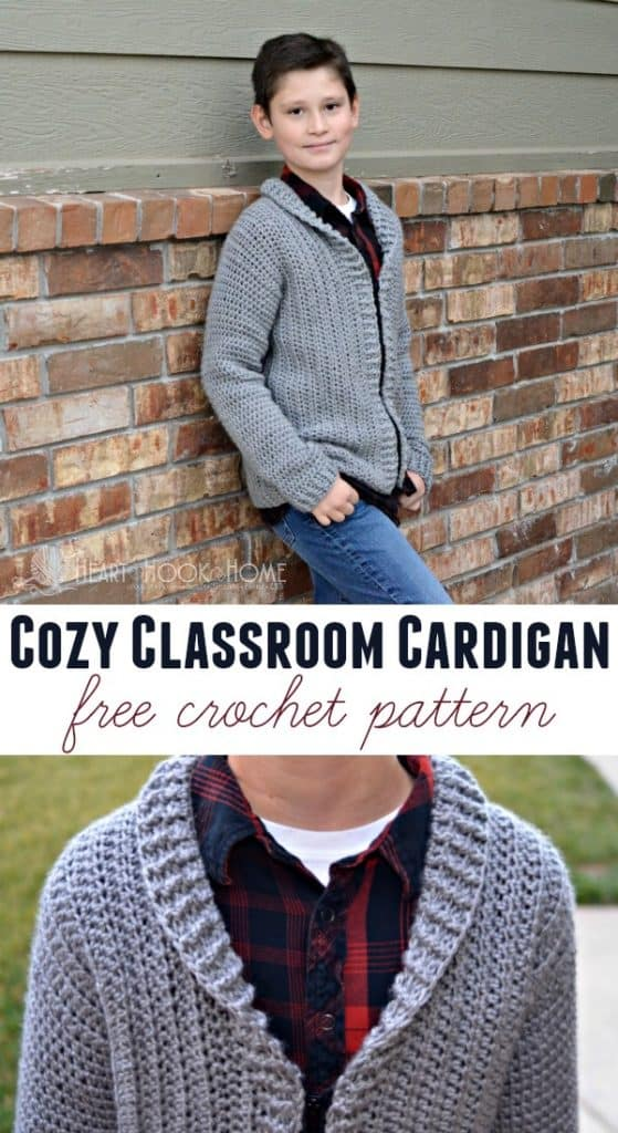 Cozy Classroom Cardigan youth large