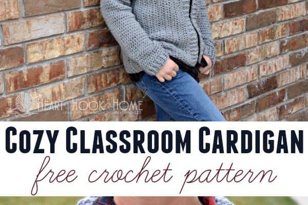 Cozy Classroom Cardigan Size 14/16 (Youth Large)