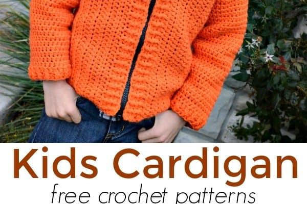 Cozy Classroom Kids Cardigan Free Crochet Pattern Size 6/8