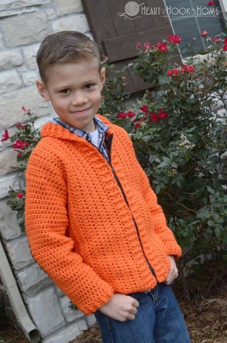 Easy cardigan for boys