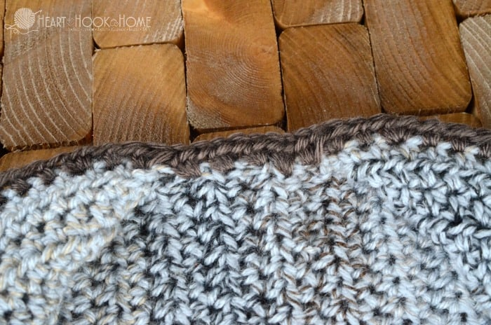 First row of collar on cozy coed cardigan series