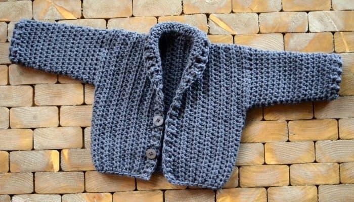 Infant cardigan crochet free pattern