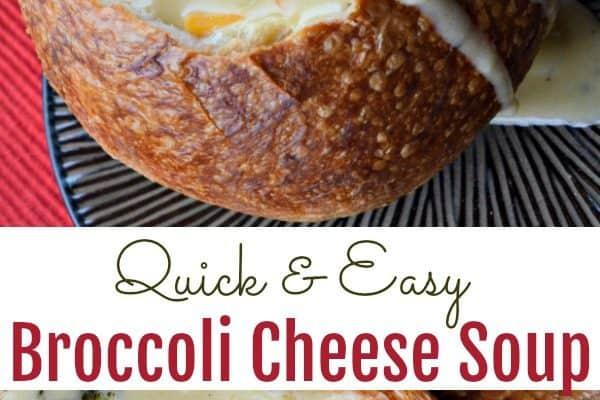 Quick & Easy Broccoli Cheese Soup Recipe